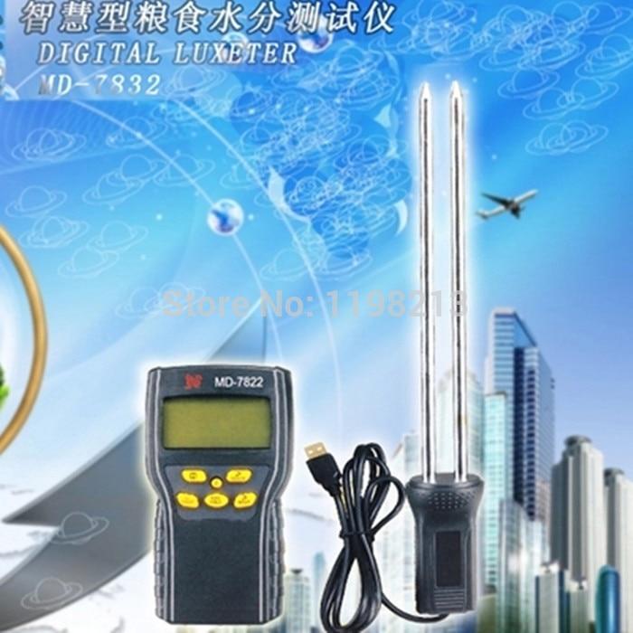 Digital Grain Moisture meter for Rice Corn Wheat Temperature Meter digital Hygrometer MD7822 LCD Display handheld digital grain temperature 8 20