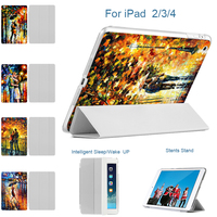 MTT For Apple IPad 4 Retina Case Lovers Oil Painting Cover For IPad 2 IPad 3