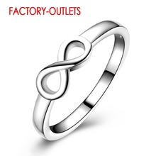 925 Sterling Silver Infinity Ring Romantic Symbol Fashion Jewelry Best Gifts For Women Girls Wedding Engagement