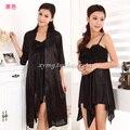 Бесплатная доставка Большой размер XXL марка летний стиль пижамы женщины ночное продукты секса рубашки платье ночной халат комплект