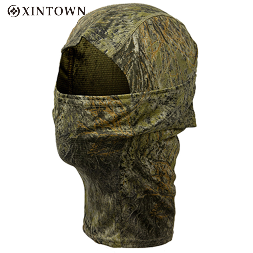 Bionic Camouflage Full Face Mask Quick-dry Hood Hunting Fishing Scarf Balaclava Outdoor Cycling Hiking Warm Face Mask Hat bionic camouflage full face mask hunting cycling hiking quick dry hood windproof sunshade scarf balaclava