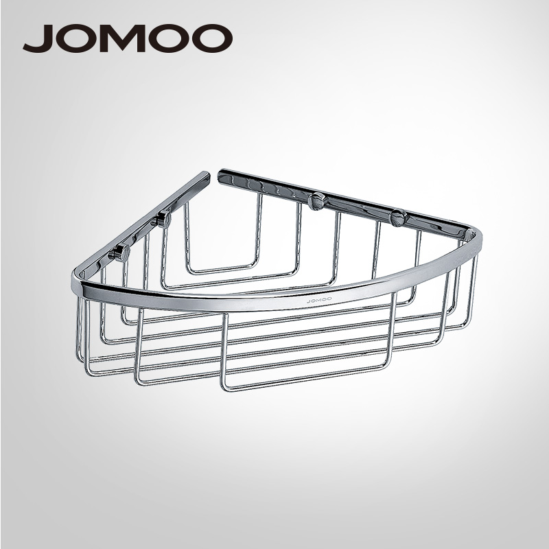 JOMOO Brass Chrome bathroom corner shelf basket Bathroom Shelves ...