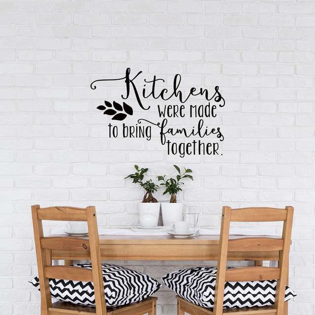 Us 6 93 30 Off Familie Innen Wand Aufkleber Küche Zitate Küchen Wurden Zu Bringen Familien Zusammen Vinyl Wandaufkleber Wasserdicht Diysyy756 In