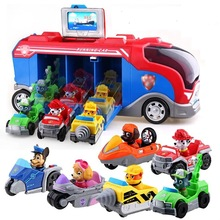 Paw Patrol Dog Toys Bus Set patrulla Canina Music Anime Figurine Plastic Action Anime Figure Model Toys Of Children Best Gifts anime code geass action figure lelouch lamperouge and knight of seven model dolls decoration figurine kids toys gifts 24cm