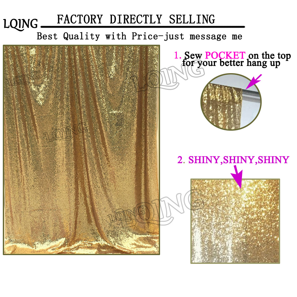 Gold Sequin Backdrop Model