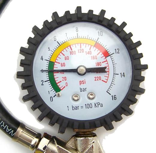 Tyre inflating inflator gun air pressure gauge Tire Pressure Table