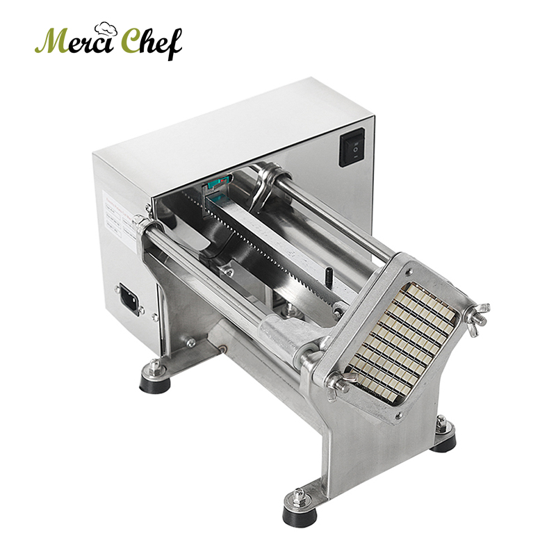 ITOP Electric Commercial Potato Chip Cutter French Fries Cutting Machine Stainless Steel Vegetable Fruit Shredding Slicer