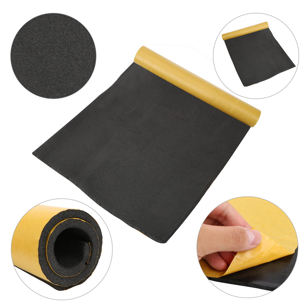 30*50CM Car Noise Insulation Foam Auto Adhesive Cotton Thick Soundproof Rubber Insulation Board Car Styling