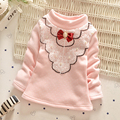 2016 new autumn and winter Child Girls Velvet lace fashion bottoming shirt,Children warm thick Hoodies,V1916