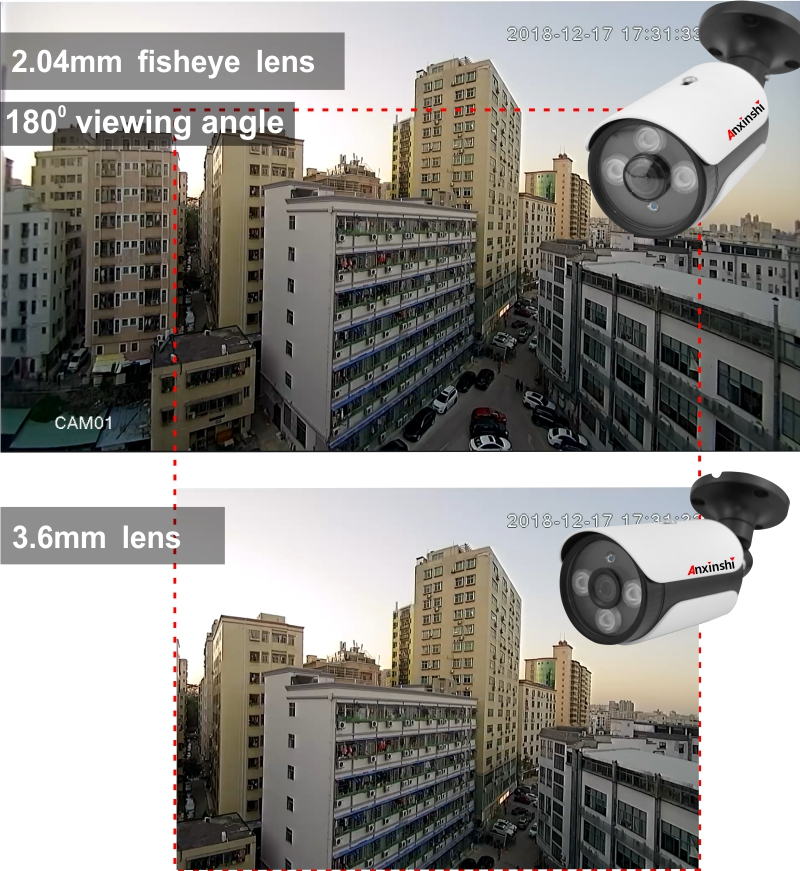 US $29 05 17% OFF|HD Security 1080P Bullet AHD Camera Fisheye Infrared 25m  180 Degree Viewing Software Correction 2MP AHD CCTV Camera for AHD DVR-in