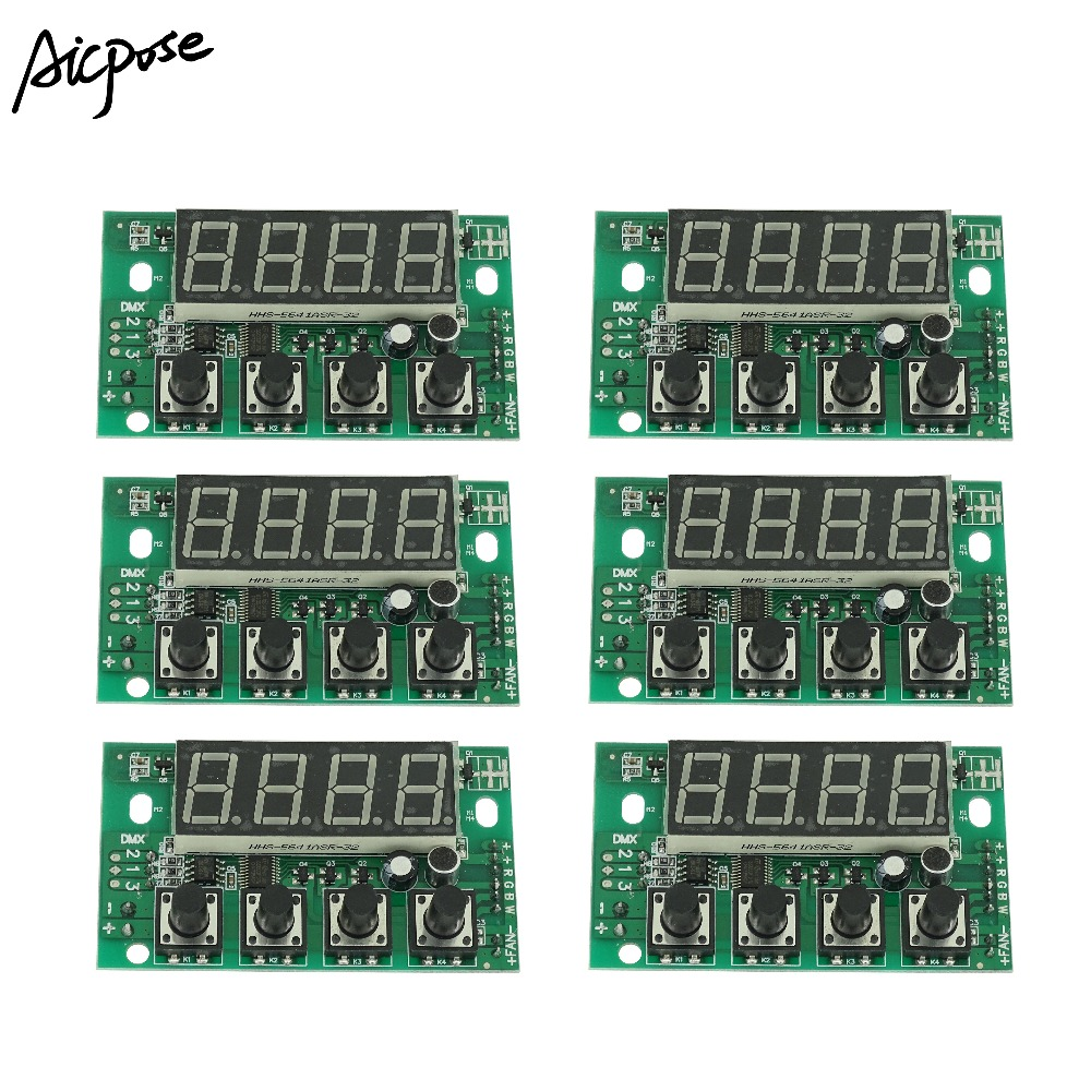 6Pcs/lots 54X3W/36x3w LED PAR Motherboard RGBW DC 12-36V Constant Pressure Motherboard 4/8CH Professional Stage Light Accessor