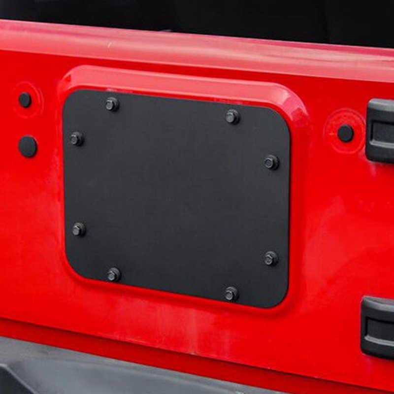Para Jeep Wrangler JKU coche negro Metal puerta trasera de repuesto cubierta de neumático en blanco