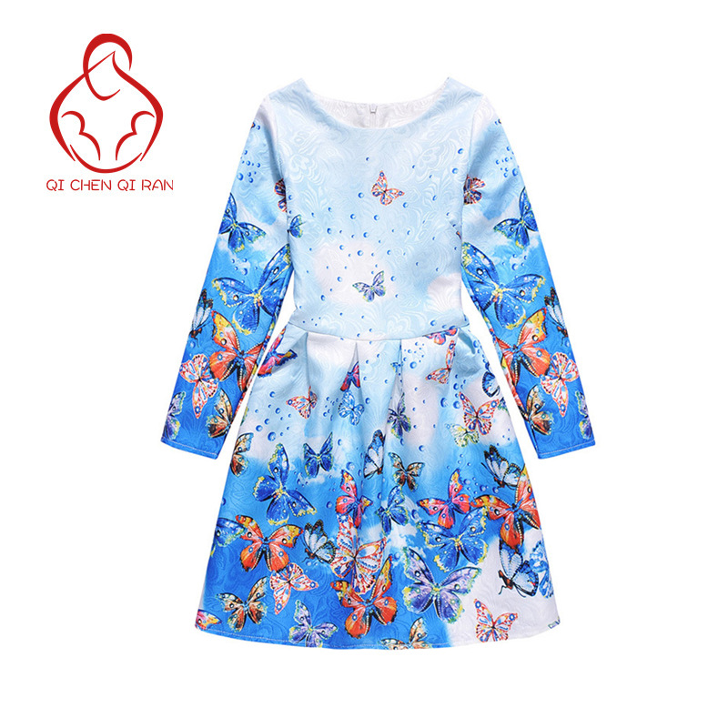 Milan Creations Girls Dresses brand of high quality children s wear long sleeved floral butterfly princess