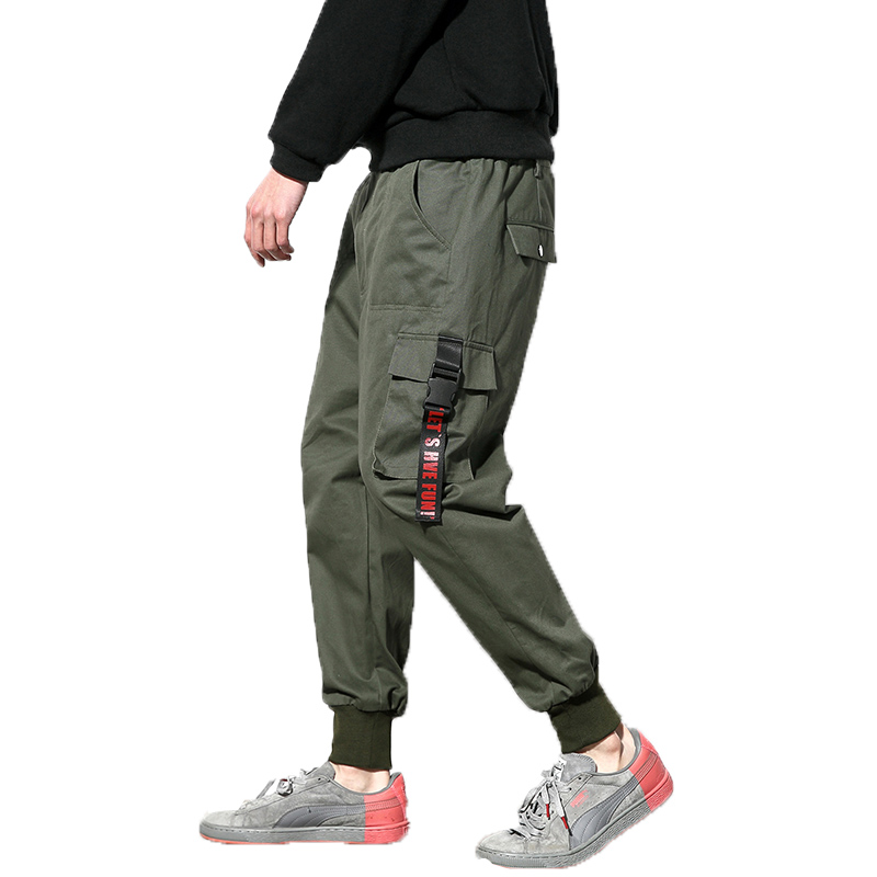 2019 Men Army Green Cargo Pants Man Joggers Boost Military Cotton Pants Hip Hop Harem Pants Mens Outdoors Ankle-Length Trousers