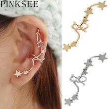 Pinksee популярные корейские шикарные золотые звезды серебряного