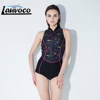 ee6873ef4 Sport Swimsuit High Neck Competition Professional Swimwear Women One Piece  Female Swimwear Shorts Pants Plus Size