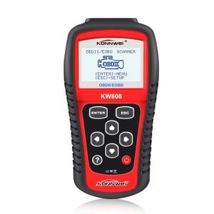 Image 2 - KONNWEI KW808 Car Diagnostic Tool OBD2 Activate engine analyzer Automotive Code Reader Scanner & New Brake Fluid Liquid Tester