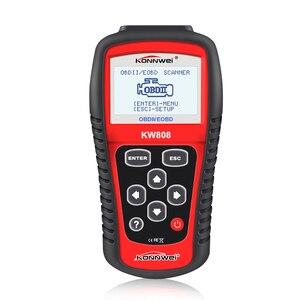 Image 2 - KONNWEI KW808 Xe Công Cụ Chẩn Đoán OBD2 Kích Hoạt động cơ phân tích Ô Tô Code Reader Scanner & New Phanh Chất Lỏng Chất Lỏng Tester
