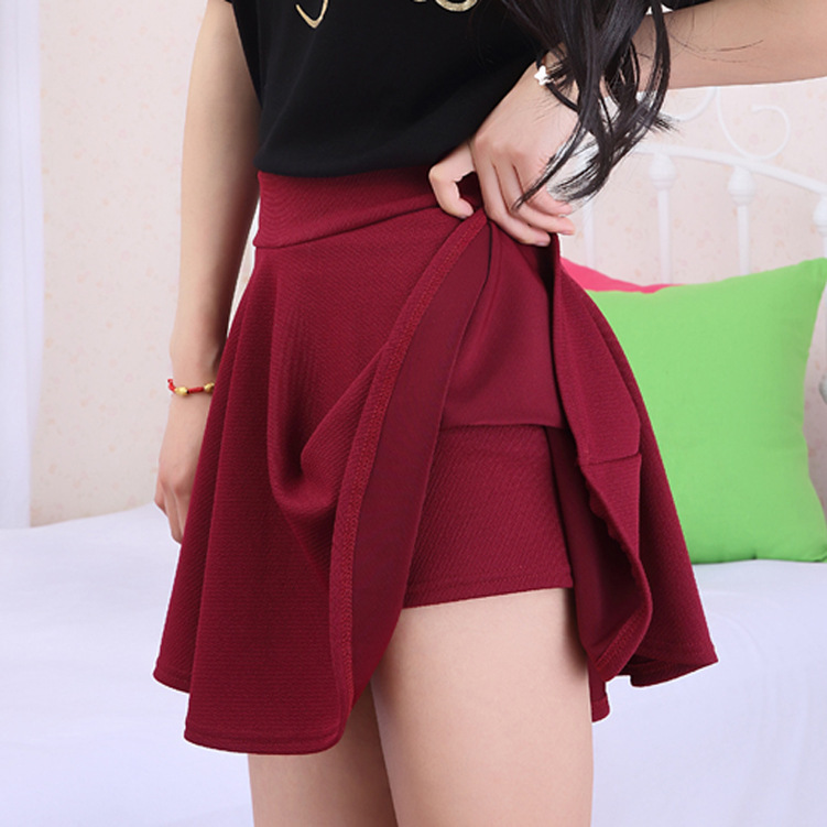 Online Shop Saias candy color women skirt with safety pants ...