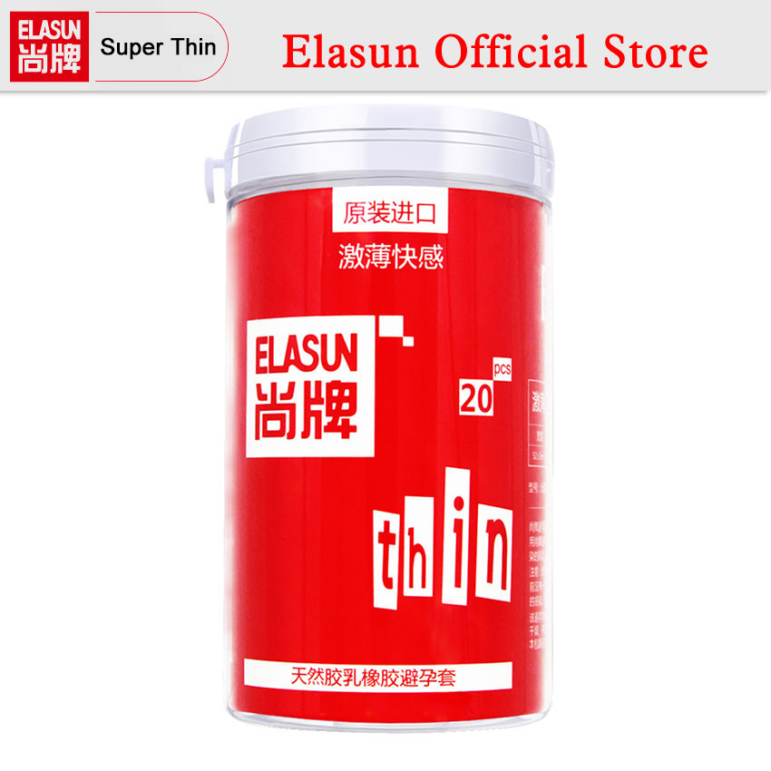 ELASUN 20 PCS Ultra Thin Pleasure Lubrication Passion Series Condoms Natural Latex Rubber Condom for Men Sex Products
