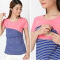 S-XL Cotton Nursing Maternity Top Clothes For Pregnant Women Breastfeeding Tee Feeding T-Shirt Short Sleeve Pregnancy Clothing