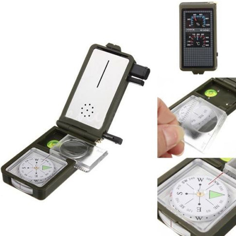 New High Quality Variety Multifunction 10 in 1 Outdoor Military Camping Survival Outdoor Tool Combination Compass Kit HR (As show)