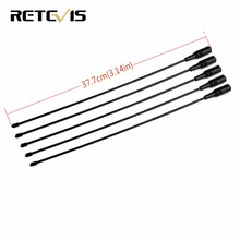 5pcs Retevis RT-771 Antenna VHF/UHF Dual Band SMA-F For BAOFENG UV-5R BF-888S Retevis H777 RT5R Puxing Walkie Talkie C9024A