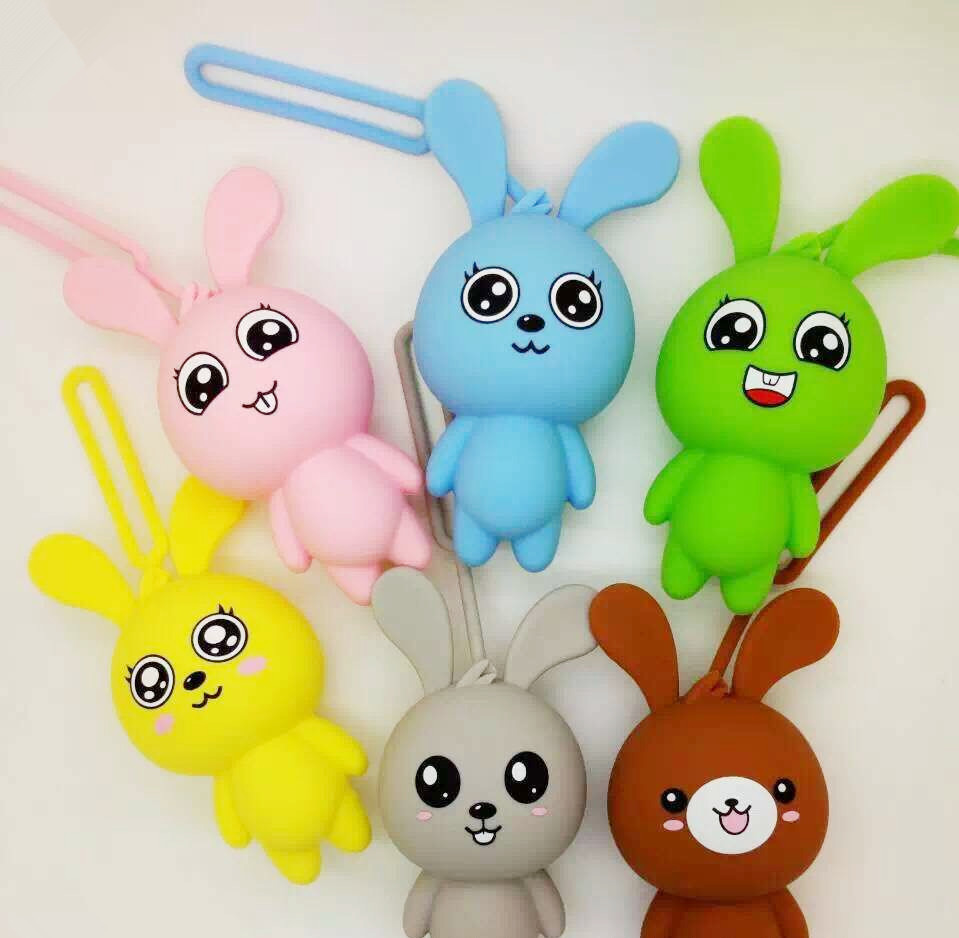 2019 High Quality Cartoon Animal Silicone Man Women Kids Car Keychain Housekeeper Key Bags Cover Keyring Organizer Case Purse