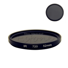 52 мм Инфракрасный ИК X-Ray фильтр объектива 720nm 720 оптического стекла-R179 Прямая доставка