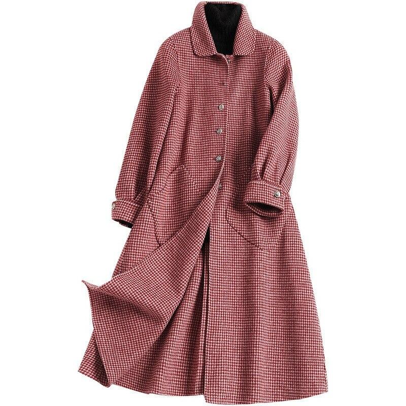 Veste Femmes Mélange Manteaux Laine Long Qualité Cardigan Femme Noir Haute Élégant De rouge Cachemire Vestes Mince Manteau D'hiver xRU0qwHXw