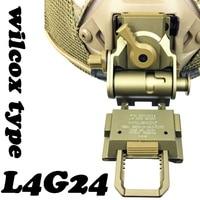 CQC Aluminum L4G24 Airsoft Tactical Helmet NVG Mount For Night Vision Goggle AN/PVS 7 14 15 18 21