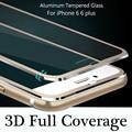 Protetor de tela frontal transparente para iphone 6 6 plus temperado película protetora de vidro curvo borda titanium cobertura completa 3d completo cobertura