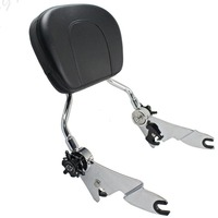 ALLGT Rear Adjustable Detachable Backrest Sissy Bar for Harley Touring Road King 2009 2016 2010 2011 2012 2013 2014 2015