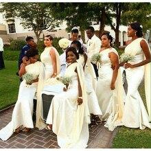 Длинные свадебные платья с одним плечом, элегантное платье подружки невесты в африканском стиле, свадебное платье для гостей