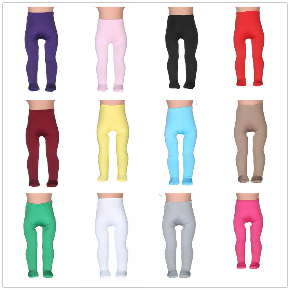 14differentColors Tight Pants Fit 18 Inches American Girl Doll Baby Doll Clothes Accessories Handmade Fashion Pants Clothes 18 inches american girl doll baby doll clothes accessories handmade christmas suit