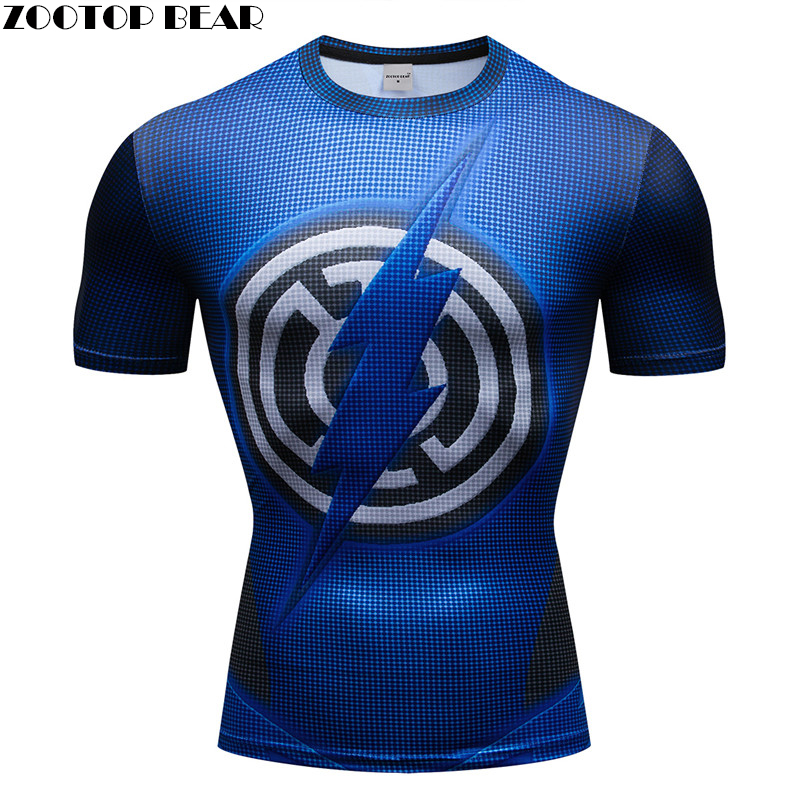 Superhero 3D t shirt Men Compression Short Sleeve T-shirt Sports Quick Dry Tops Bodybuilding Fitness Tshirts Crossfit Tee S-XXXL