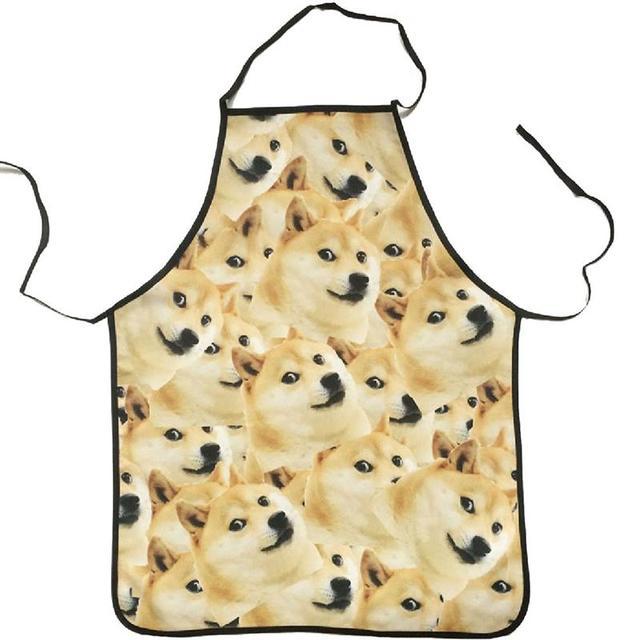 LUOEM Novità Da Cucina Grembiule Da Cucina Cani Animale Stampato Grembiule Da Cu