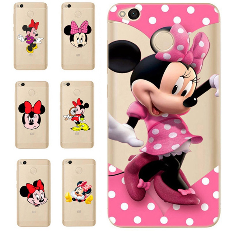 For <font><b>Xiaomi</b></font> Redmi 4X Note 4 4A 3 Cute TPU Colorful <font><b>Mickey</b></font> Minnie Painted Design Cover Case <font><b>Fundas</b></font> For <font><b>Xiaomi</b></font> <font><b>Mi</b></font> <font><b>A1</b></font> Note 4 D311 image
