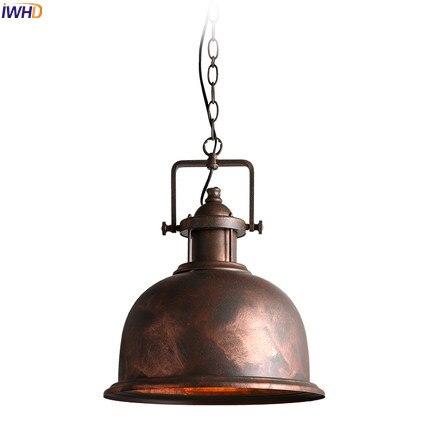IWHD Лофт Стиль Ретро подвесные светильники Restaruant Гостиная Американский Железный Wrount Edison Винтаж промышленный свет лампы