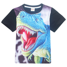 4-11Years Old Dinosaur Children Kids Shorts Tops Tees T Shirt Summer Teenager Boys Girls T-Shirt Brand Bobo Baby