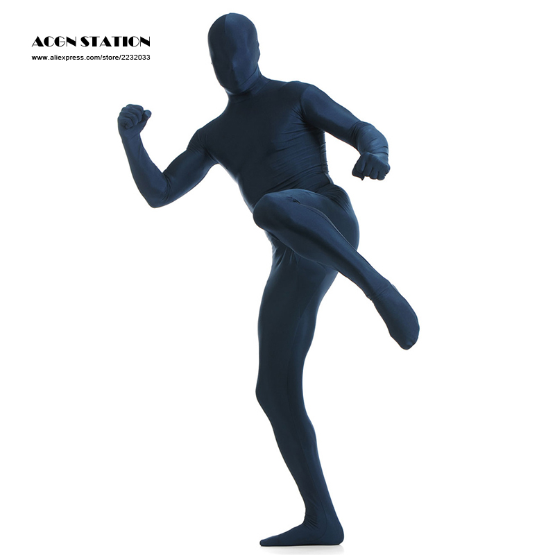 24h 2017 Customize for adults New Dark Navy Lycra Spandex Zentai Suit for Men Rush order/Same day shipping/24-hour shipping