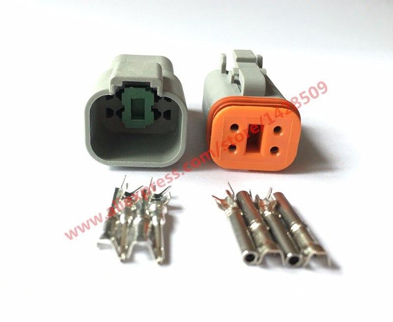 50/100 Set 4 Pin Female Male Waterproof Electrical Wire Connector Plug Deutsch Enhanced Seal Shrink Boot Adapter DT06-4S DT04-4P цены онлайн