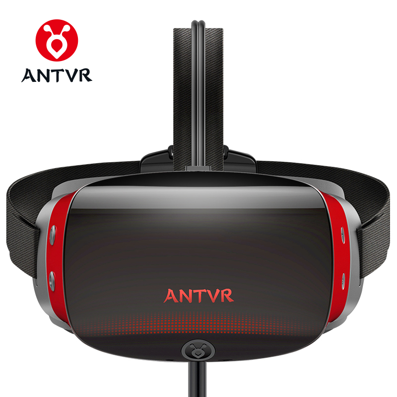 ANTVR New Virtual Reality PC headset 3d vr Glasses 5.5Dual OLED Screen 2K VR Helmet with X-box compatible with Steam plateform 1pcsdeepoon e2 virtual reality 3d pc glasses 1080 1920 vr headset head mount compatible with oculus rift dk2 s game movie 2016