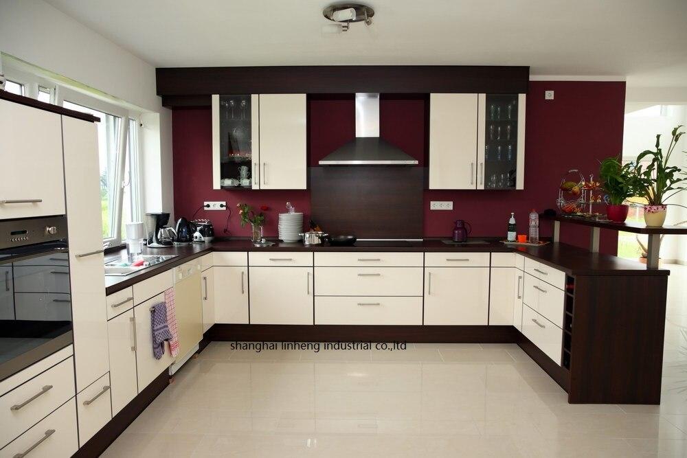 Melamine/mfc Kitchen Cabinets(LH-ME056)