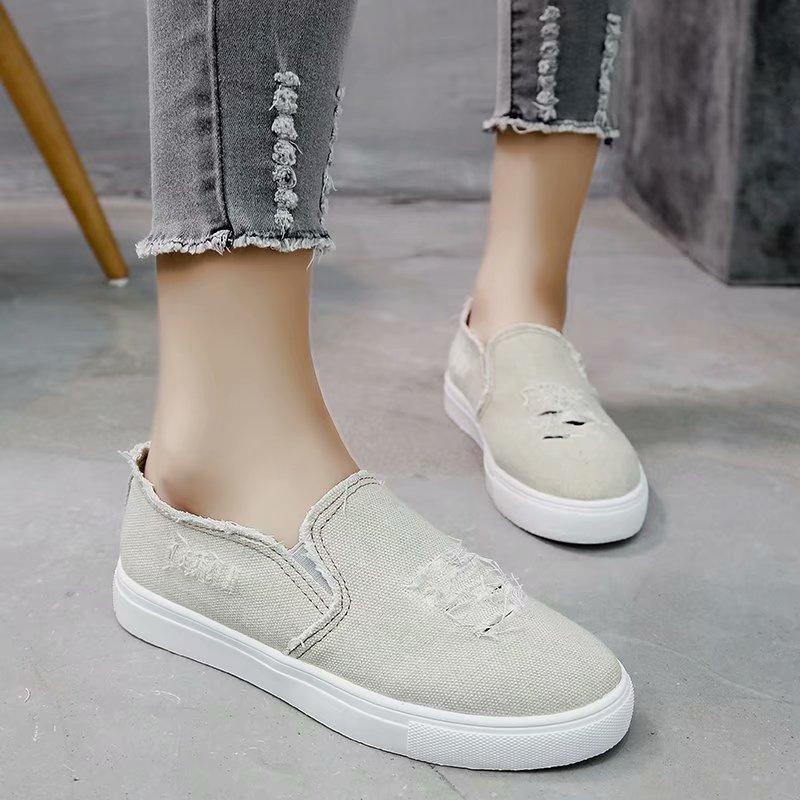 Agujero Las Los Resbalón Lona Deporte Plus gris 35 Mujer Casual Zapatos azul Zapatillas Cielo 43 Planos Señoras Azul Tamaño Mujeres N6971 De Mocasines En Roto axUPfqOaw