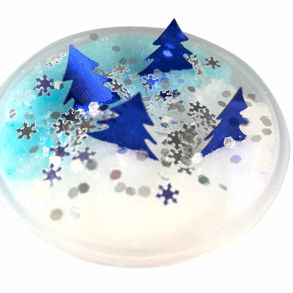 Christmas Fluffy Floam Slime Soft Mixing Tricky Putty Scented Stress Relief DIY Clear Slime Toys Sludge Toy Dropshipping