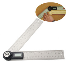 Wholesale prices Ninth World Multi-function 0-200mm 360 Degree Electronic Digital Razer Goniometer Angle Finder Gauge Meter Protractor