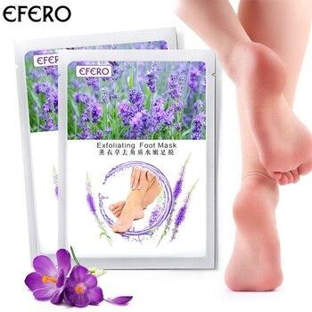 EFERO 1pair=2pcs Foot Mask Dead Skin Remover Lavender Essence Whitening Moisturizing Feet Peeling Mask for Legs Feet Care Cream