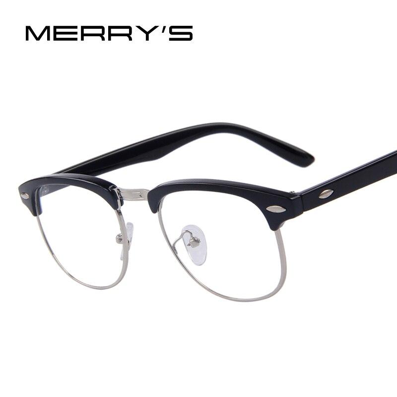 5a4ff8da77 Lentes transparentes clásicas Retro para hombre gafas para mujer medio  Metal Gafas de Metal en De los hombres gafas de Marcos de Accesorios de  ropa en ...