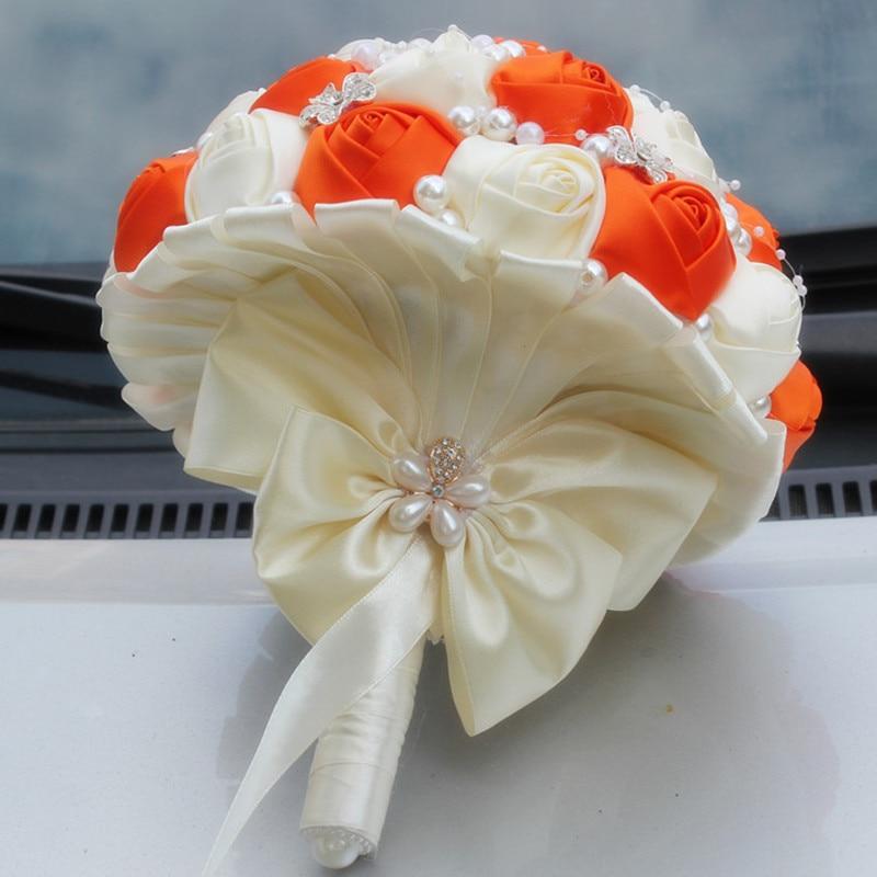 Buchet de nunta broșă exclusivă Buchet de flori artificiale - Accesorii de nunta - Fotografie 2